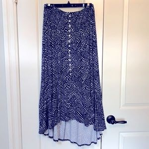 NWT Tribal jersey skirt with smocked waist